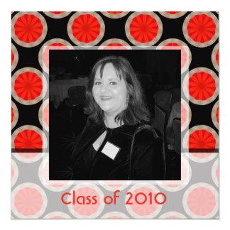 orange black  graduation 13 cm x 13 cm square invitation card