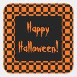 Orange & Black Halloween Sticker