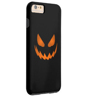 Orange & Black Jack-O-Lantern Halloween Tough iPhone 6 Plus Case
