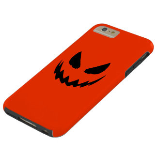 Orange & Black Jack-O-Lantern Tough iPhone 6 Plus Case