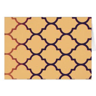 orange black Moroccan Lattice Repeatable Pattern Cards