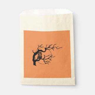 Orange & Black Owl Halloween Party Favor Bags Favour Bags