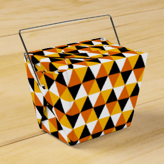 Orange & Black Triangle Pattern Favor Box