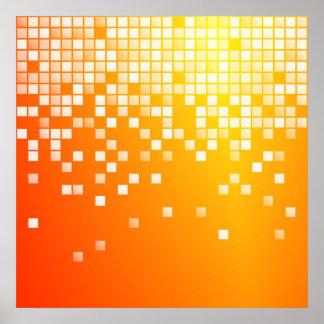 Orange Blocks Poster