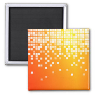 Orange Blocks Square Magnet