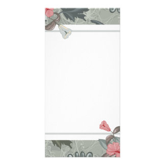 Orange blossom and floral design photo card template