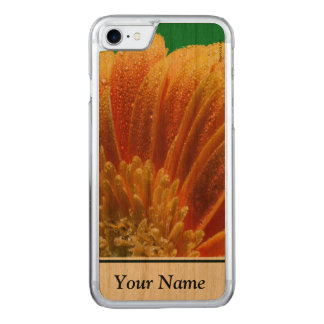 Orange Blossom with colorful petals Carved iPhone 8/7 Case