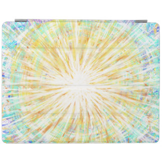Orange Blue Aqua Star Abstract Art Painting Design iPad Cover