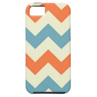 Orange blue chevron zigzag stripes zig zag pattern iPhone 5 covers