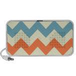 Orange blue chevron zigzag stripes zig zag pattern travelling speaker
