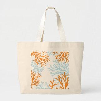 Orange & Blue Coral Tote Bag