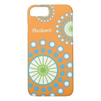 Orange, Blue, Green Pinwheel iPhone 8/7 Case