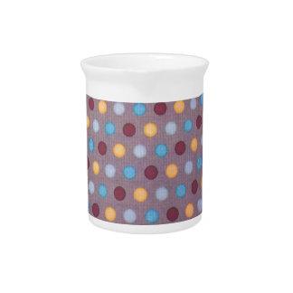 Orange blue maroon dots drink pitcher
