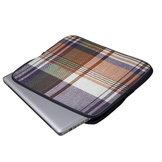 Orange & Blue Plaid Laptop Sleeve