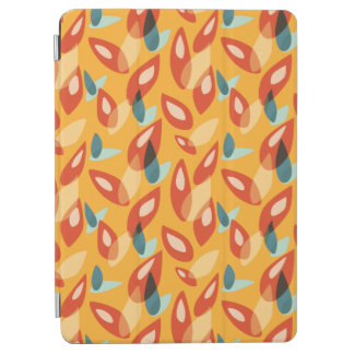 Orange Blue Yellow Abstract Autumn Leaves Pattern iPad Air Cover