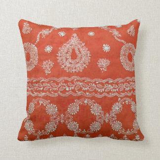 Orange Bohemian Pillow
