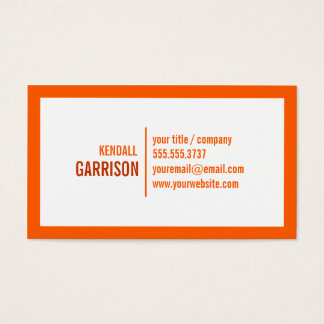 Orange Bold Border Business Card
