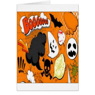 Orange Boom Scary design Card