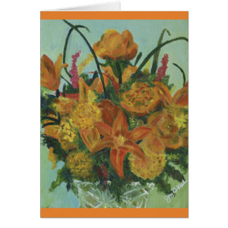 Orange Bouquet - Card