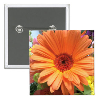 Orange Bouquet Flower Buttons