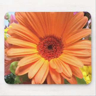 Orange Bouquet Flower Mouse Pad