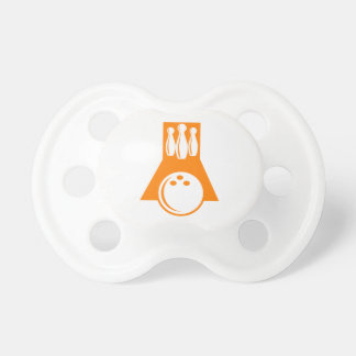Orange Bowling Baby Pacifiers