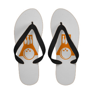 Orange Bowling Sandals