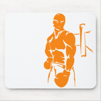 Orange Boxing Mouse Pad
