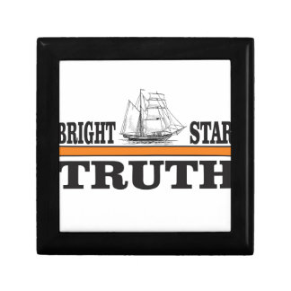 orange bright star of truth small square gift box