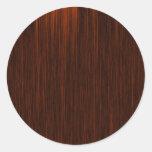 Orange/Brown and Black Lines Pattern Round Stickers