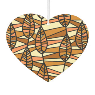 Orange Brown Autumn Leaves Pattern Car Air Freshener