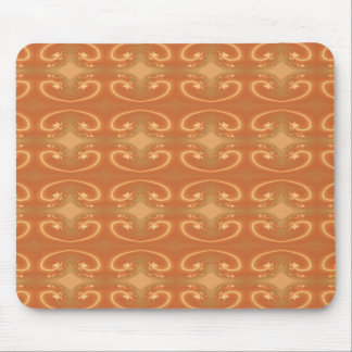 Orange - Brown Pattern, with Swirls. Mouse Pad