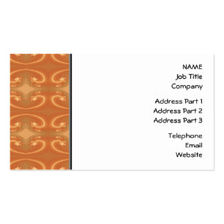 Orange - Brown Pattern, with Swirls. Pack Of Standard Business Cards