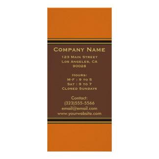 orange brown simple custom rack cards