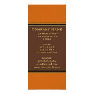 orange brown simple rack card