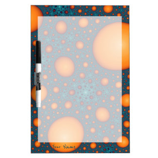 Orange bubbles. Add your name or custom text. Dry Erase Board