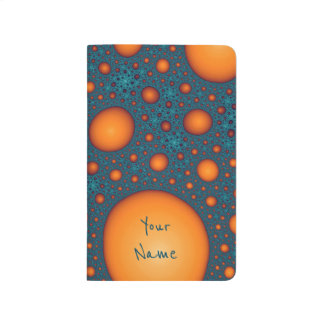 Orange bubbles. Add your name or custom text. Journal