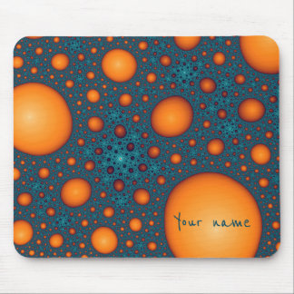 Orange bubbles. Add your name or custom text. Mouse Pad