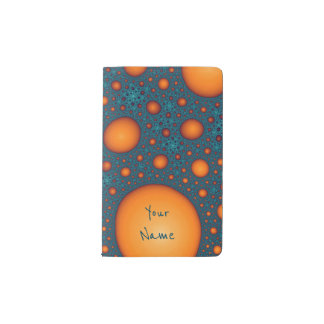 Orange bubbles. Add your name or custom text. Pocket Moleskine Notebook