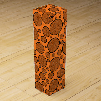 Orange Bubbles Dark Wine Gift Box