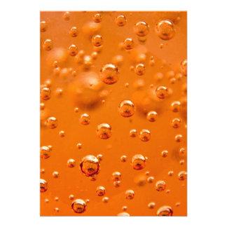 Orange bubbles custom invite