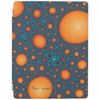 Orange bubbles iPad cover