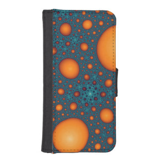 Orange bubbles iPhone SE/5/5s wallet case
