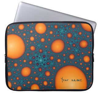 Orange bubbles laptop sleeve
