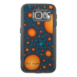 Orange bubbles OtterBox samsung galaxy s6 case