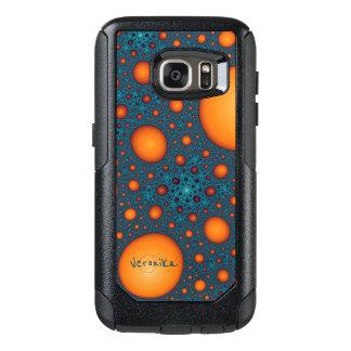 Orange bubbles OtterBox samsung galaxy s7 case
