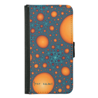 Orange bubbles samsung galaxy s5 wallet case