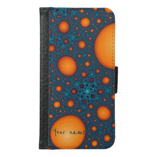Orange bubbles samsung galaxy s6 wallet case