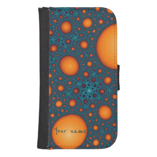 Orange bubbles samsung s4 wallet case