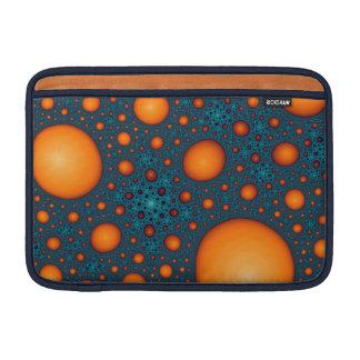 Orange bubbles sleeve for MacBook air